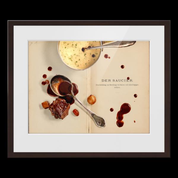 "culinary timepieces ""Der Saucier"" gerahmter Print"